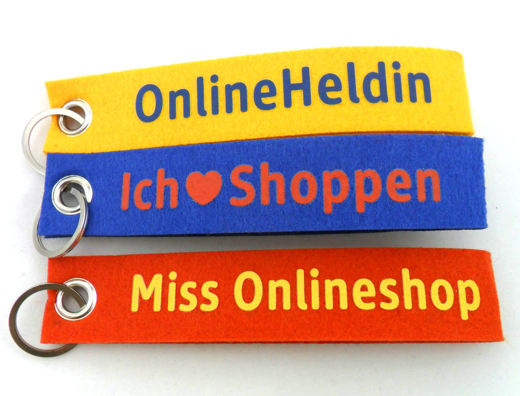 Custom Wholesale Printing Fashion Felt-Lanyard-Keychain