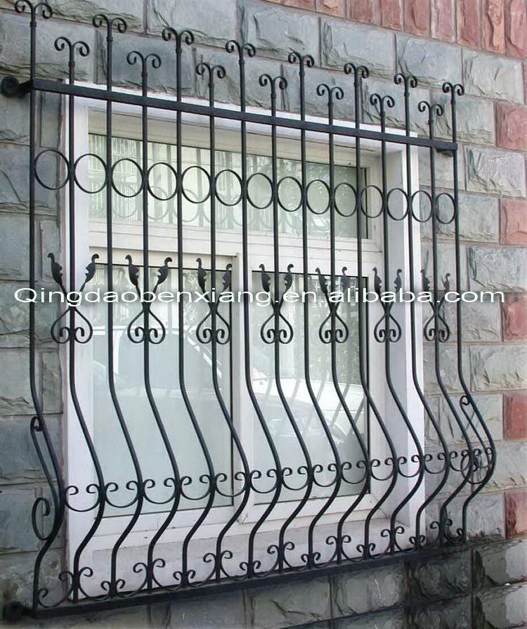 Hot Item Modern Iron Window Grill Design China Steel Security Windows
