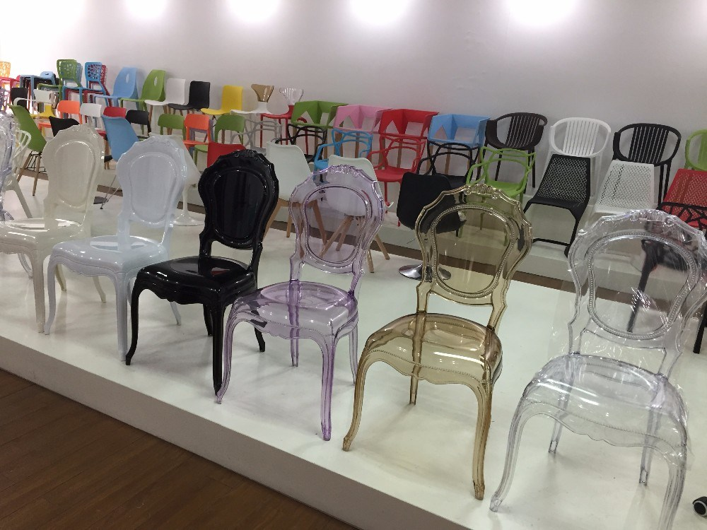 China Modern Leisure Clear Resin Bella Chair French Dining Louis