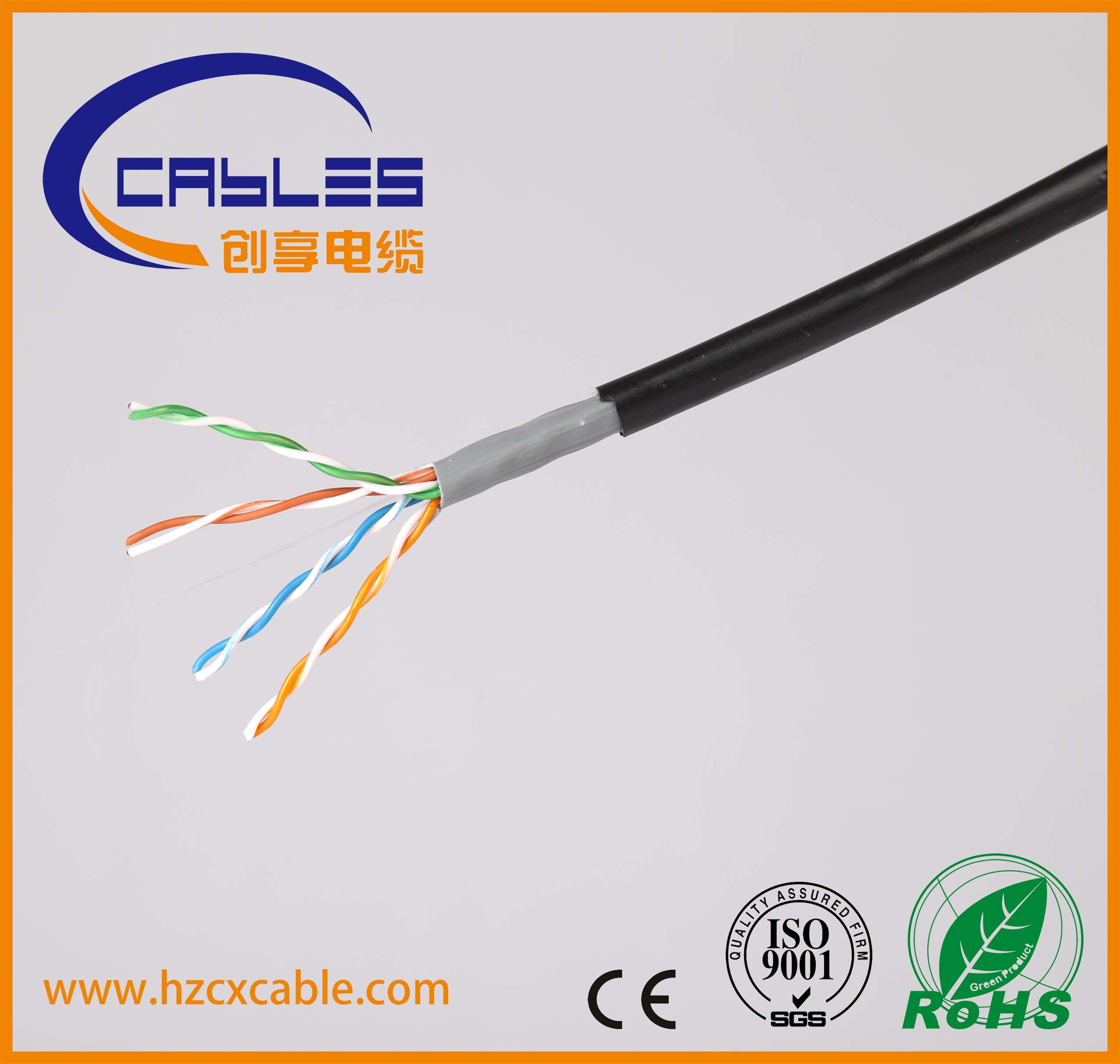 China Outdoor Utp Cable Cat5e Pvc And Pe Jacket Network Wiring Cat6