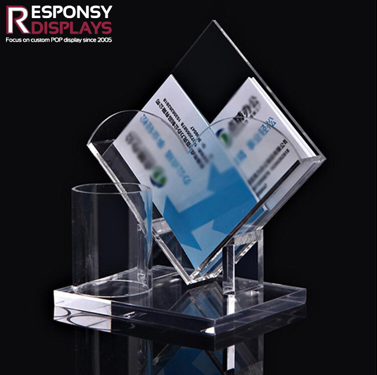 China Commercial Use Acrylic Counter-Top Business Card Display ...
