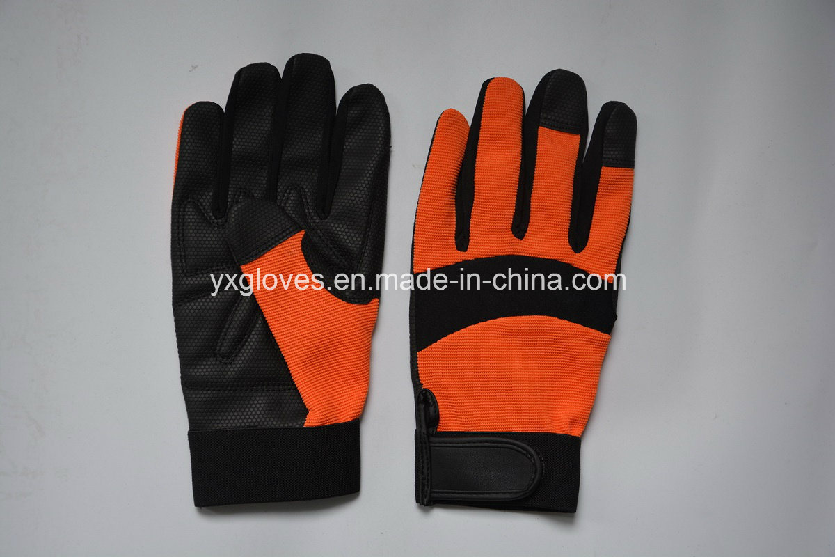 Safety Glove-Synthetic Leather Glove-Industrial Glove-Labor Glove-Mechanic Glove-Working Gloves pictures & photos