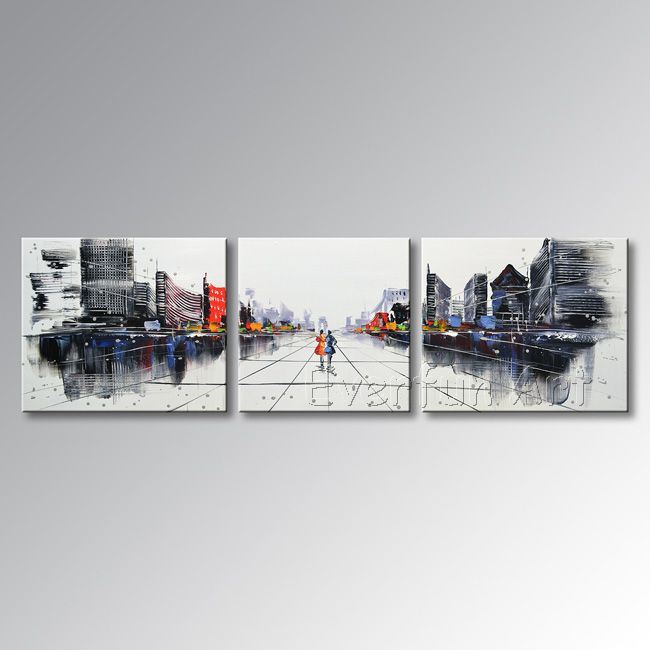 Hand-Painted Modern Wall Art Abstract Oil Painting on Canvas pictures & photos
