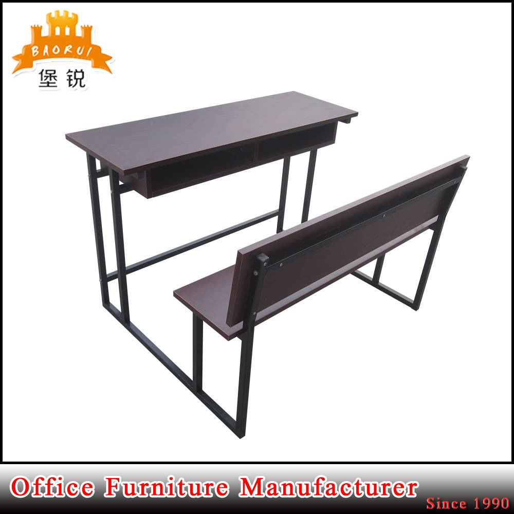 Double Seat Metal School Table Student Desk And Chair