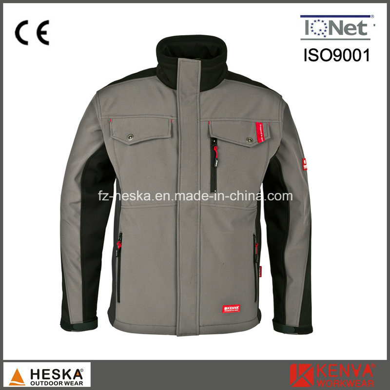 TPU and Fleece 3 Layer Workwear Men Softshell Jacket pictures & photos