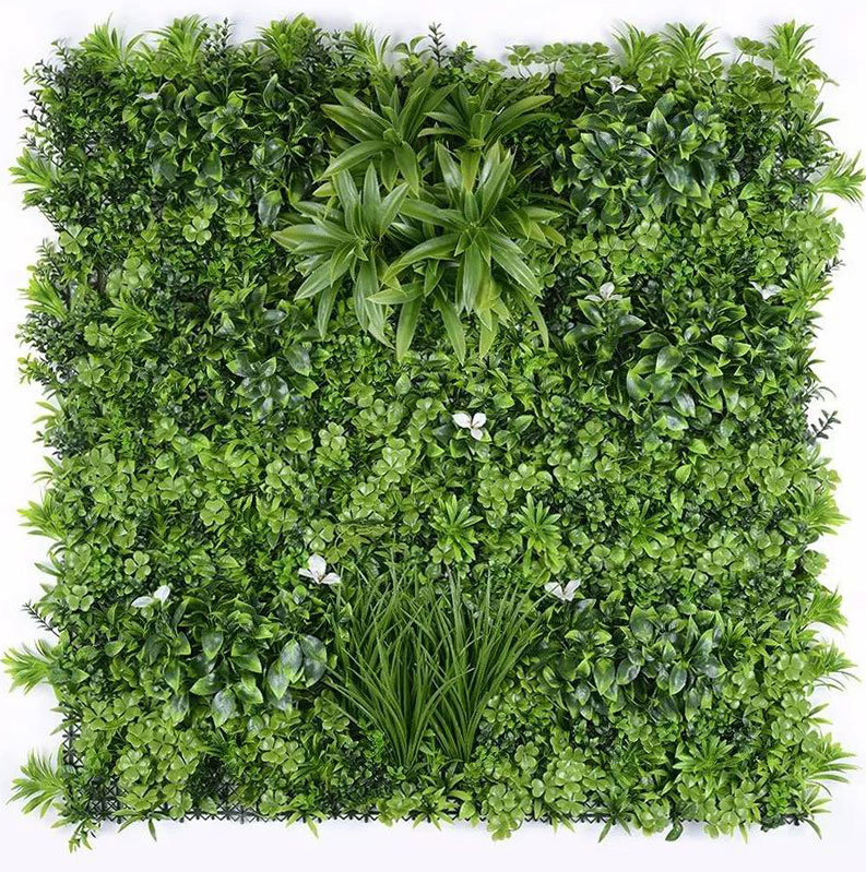 Hot Item Anti Uv Fire Retardant New Pe Texture Artificial Green Wall Plant Leaf Foliage Flower Privacy Vertical Garden Hedge Fence Screen