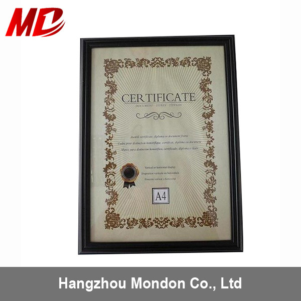China High Qualitity Wooden A4 Certificate Frame China Wholesale