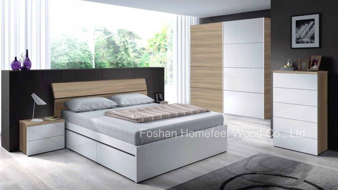 China Luxury 5 Piece Bedroom Furniture Set (HF-EY017) - China ...