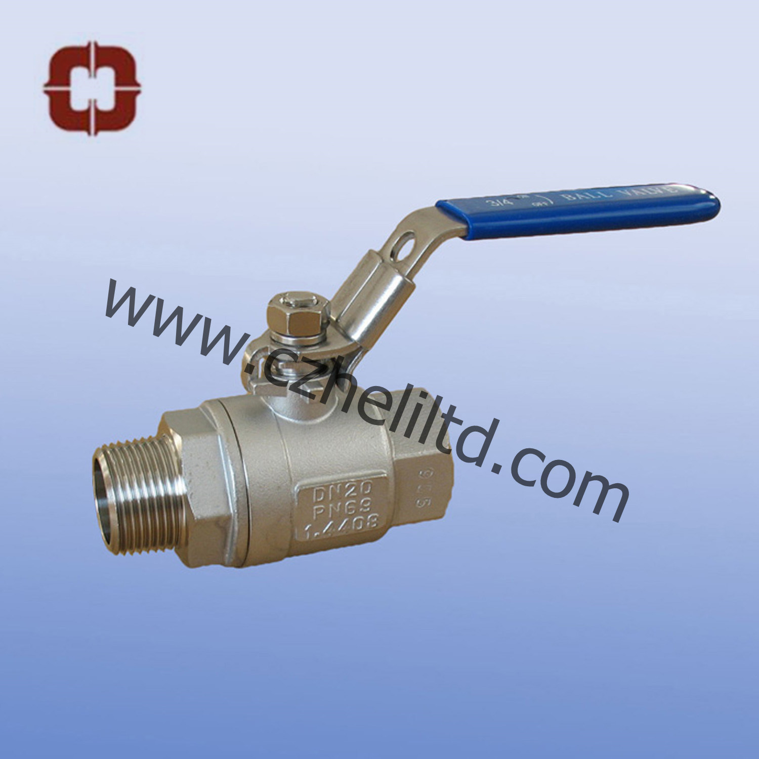 2PC Male/Female Full Port Ball Valve 1000wog