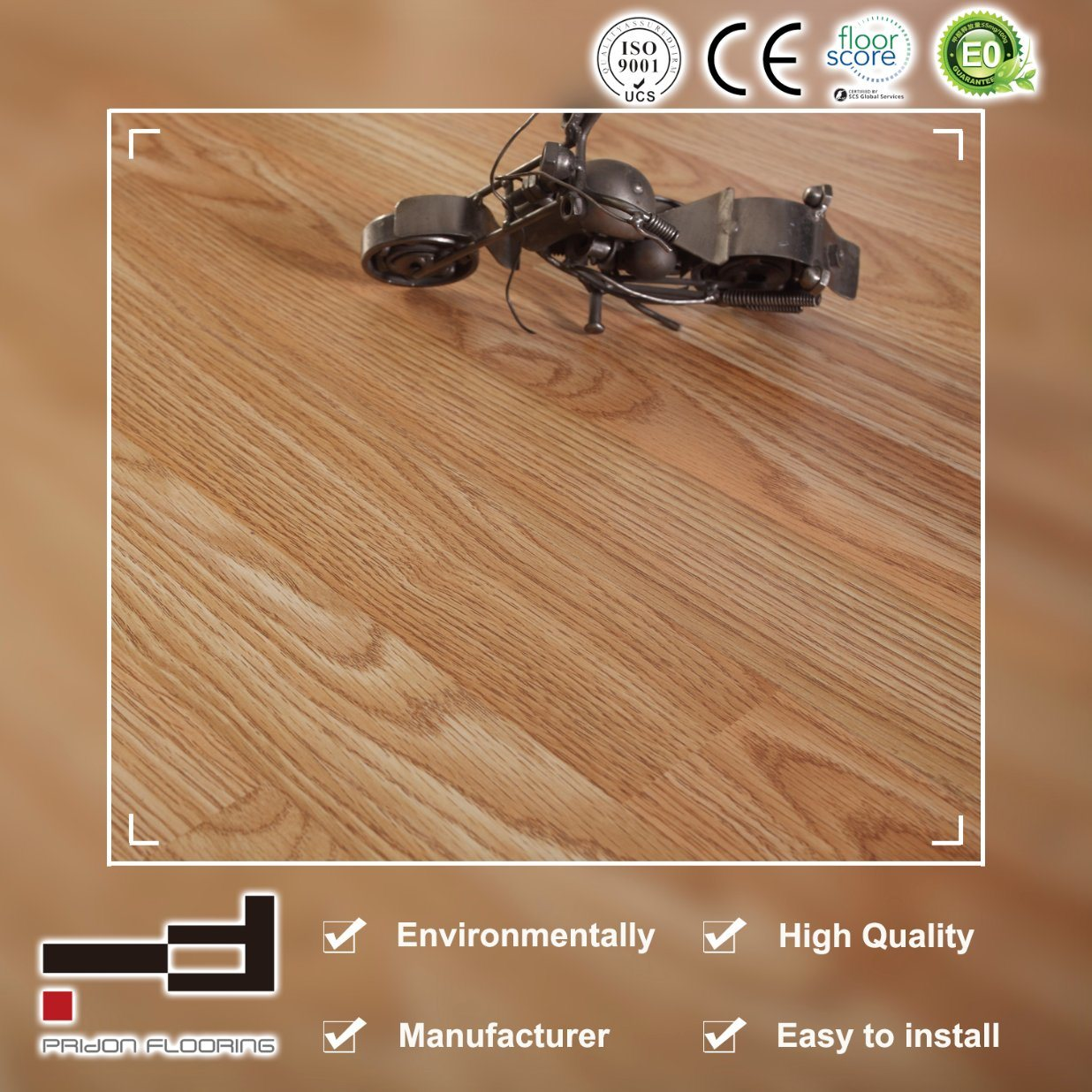 China Carb Standard Tan Oak Classical Laminate Flooring Laminated