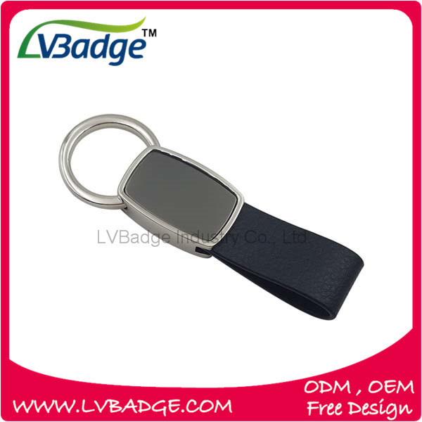 2016 High Quality Metal Leather Keychain with Promotion Logo pictures & photos