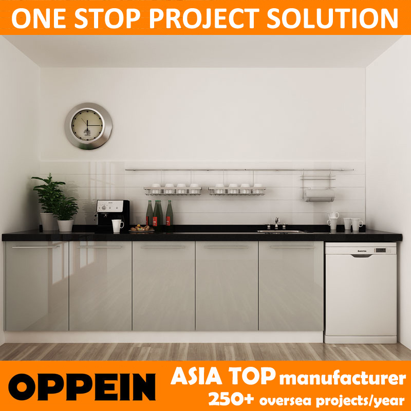 Hot Item Oppein Australia Project Modern Built In Lacquer Wood Kitchen Cabinet Op14 L04