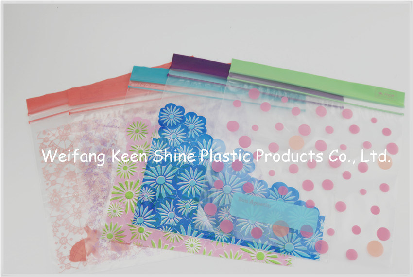 Zip Top LDPE Plastic Custom Design Grip Seal Bag
