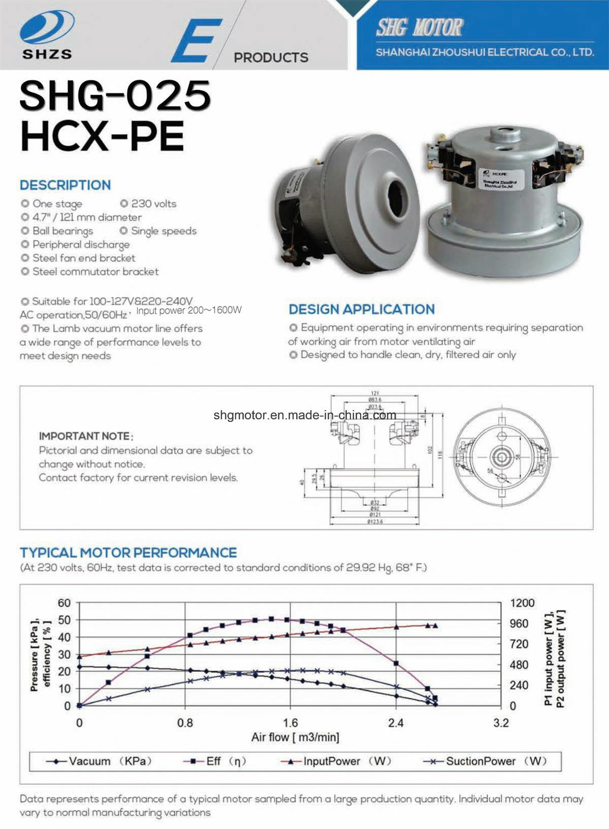 High Quality Motor for Vacuum Clenar