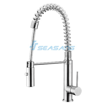 China Kitchen Sink Spring Pull-out Faucet with Spray Shower Head ...