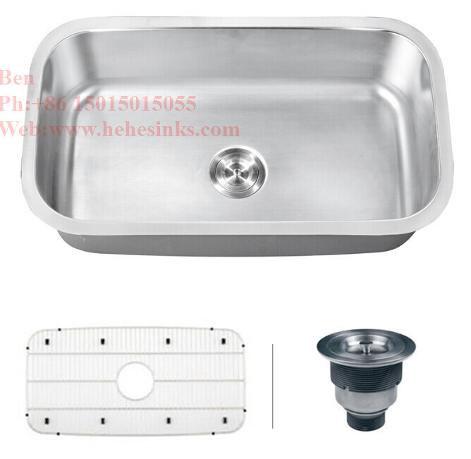 Stainless Steel Large Size Single Bowl Kitchen Sink Tank Basin