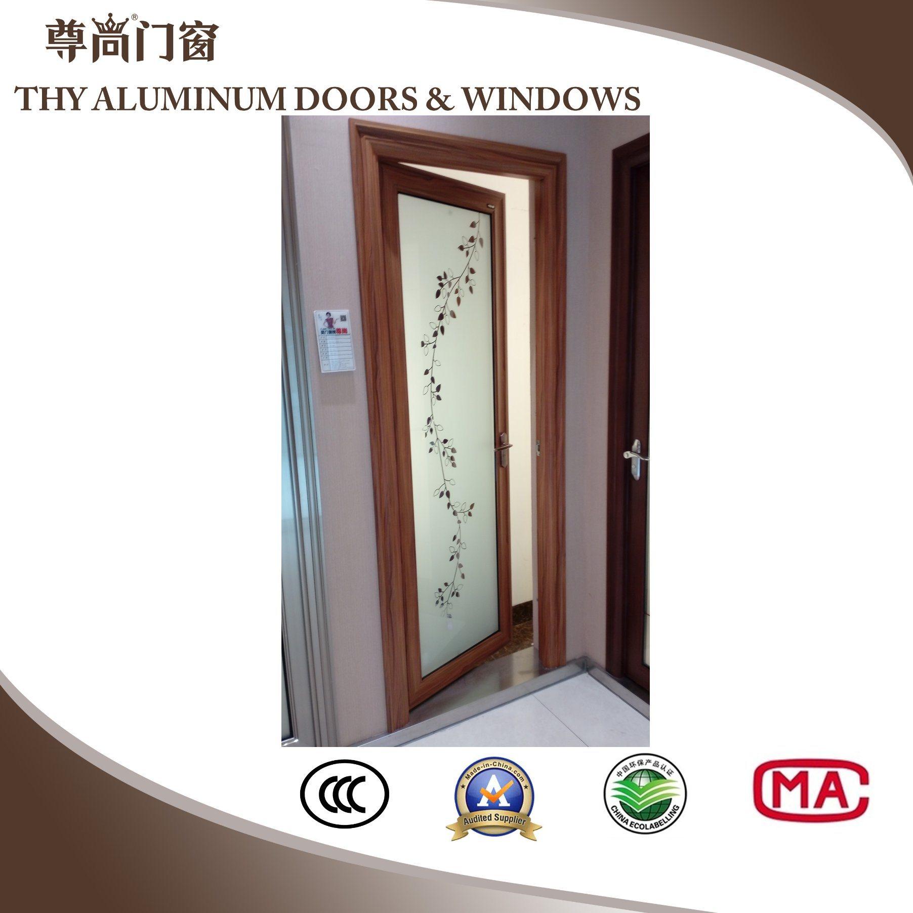 China Wood Grain Aluminum Frame Interior Door China Aluminum Door