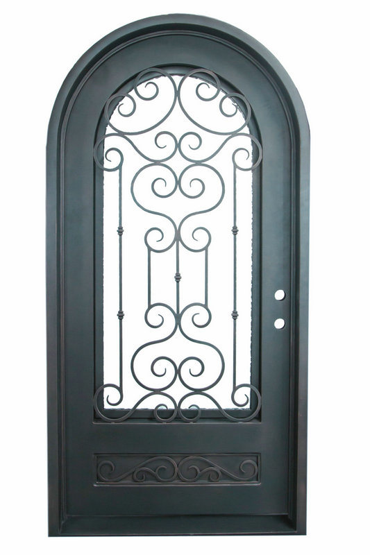 China Arch Top Custom Iron Single Door Design for Home (UID-S016 ...