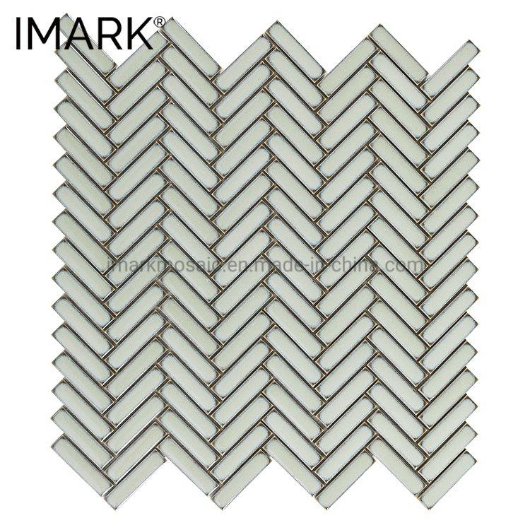 Herringbone Ceramic Mosaic Tile