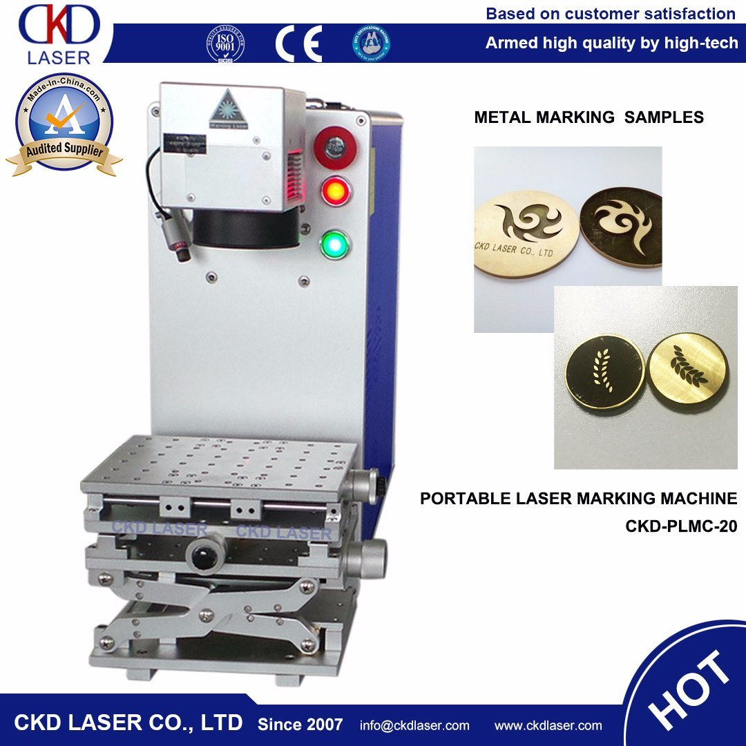 20W Q-Switched Fiber Laser Etching Machine for Engraving Metal