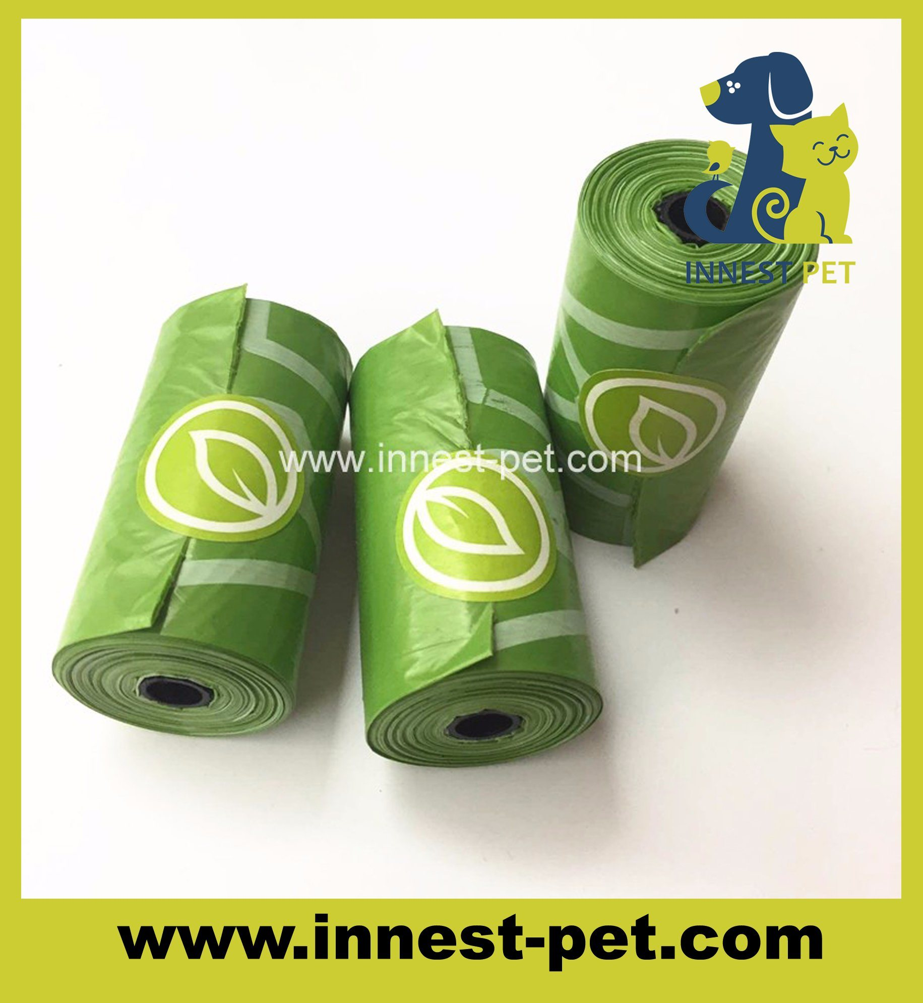 China Factory Direct Green Biodegradable Dog Bag In Bulk Waste