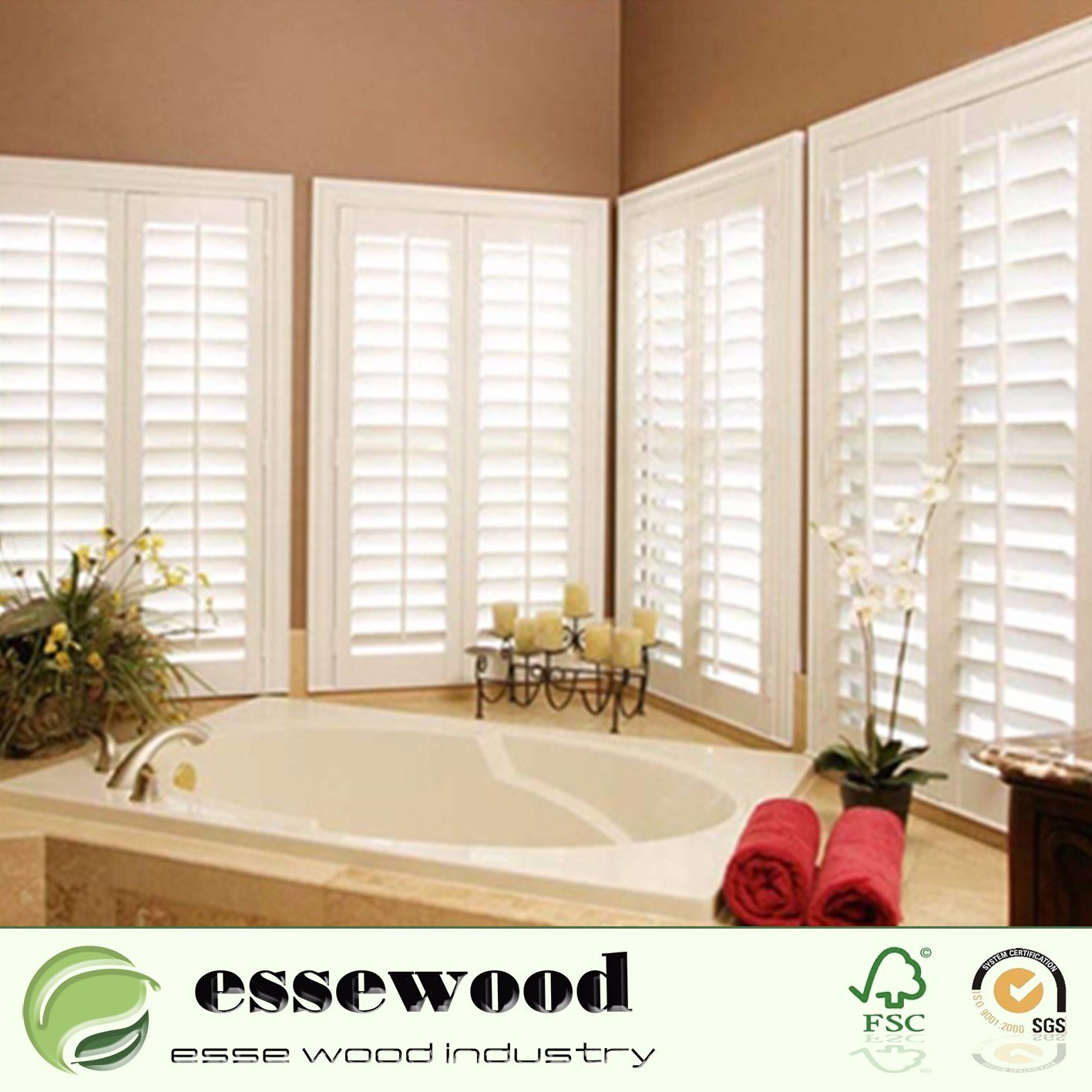 China Window Wood Shutters Plantation Vinyl Shutters For