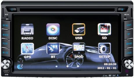 China 6 2inch Double DIN Car DVD Player with Wince/Android System