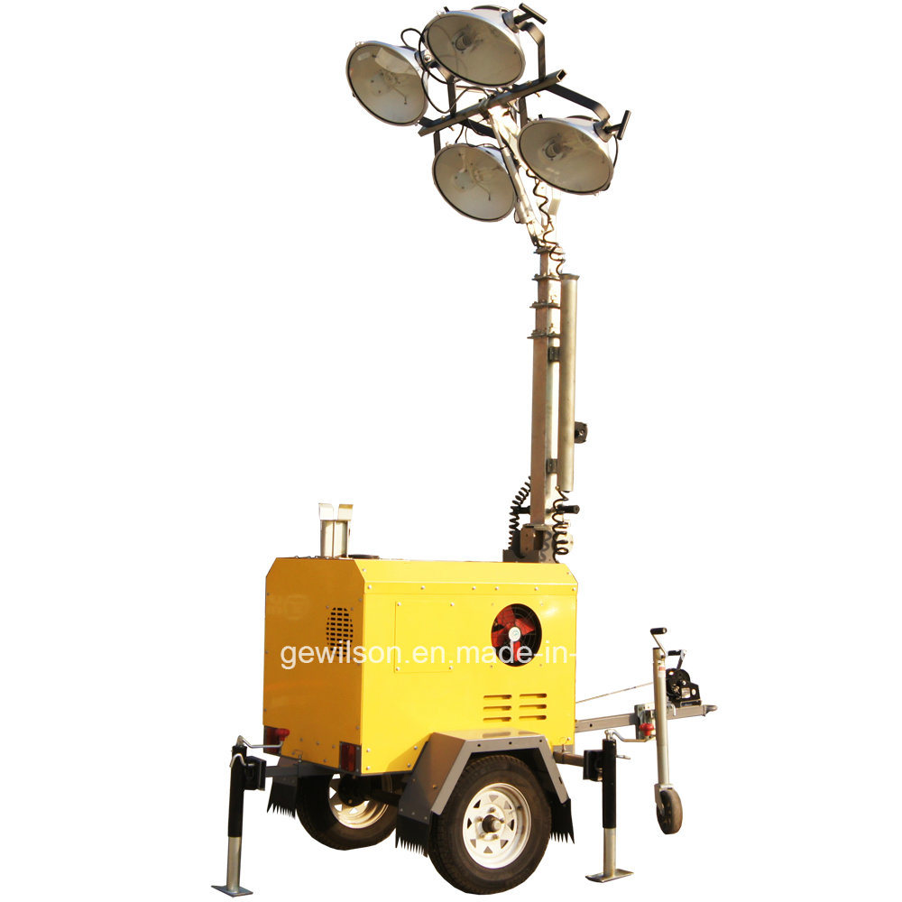 Hot Item Construction Portable Lighting Tower Light With Metal Halide Or Led