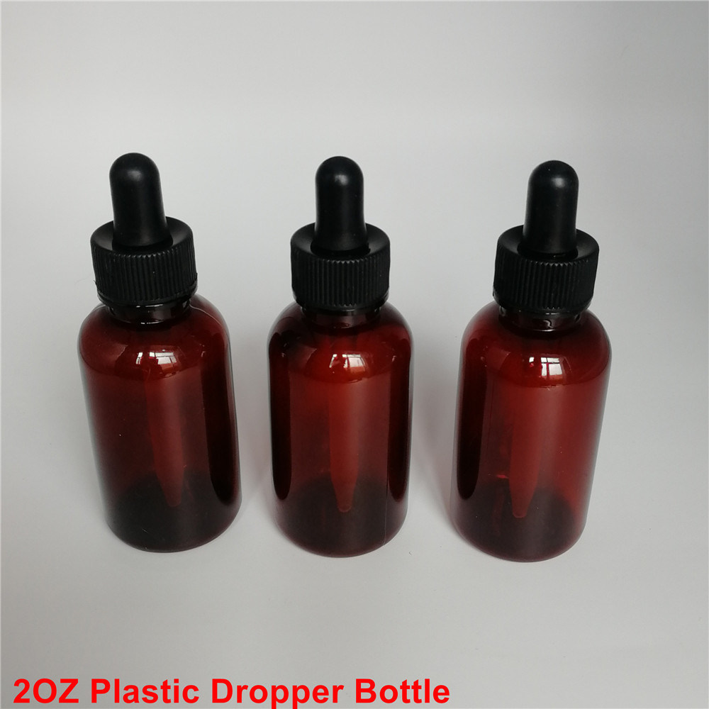6e5a8f8be0be [Hot Item] Amber Essential Oil 30 Ml Plastic Dropper Bottle Vials for Aroma  with Child-Proof Cap
