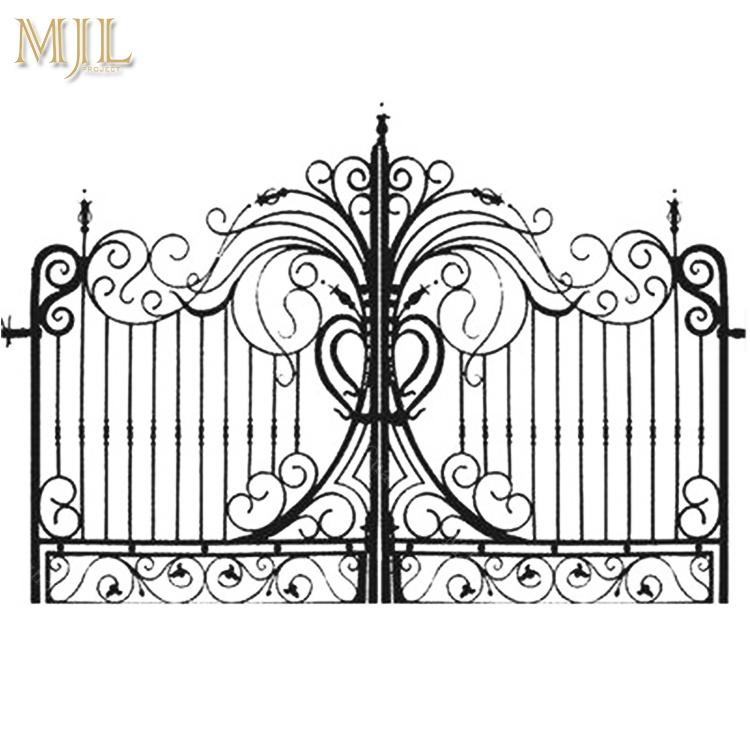 China New Style Luxury Low Price Double Door Iron Gates
