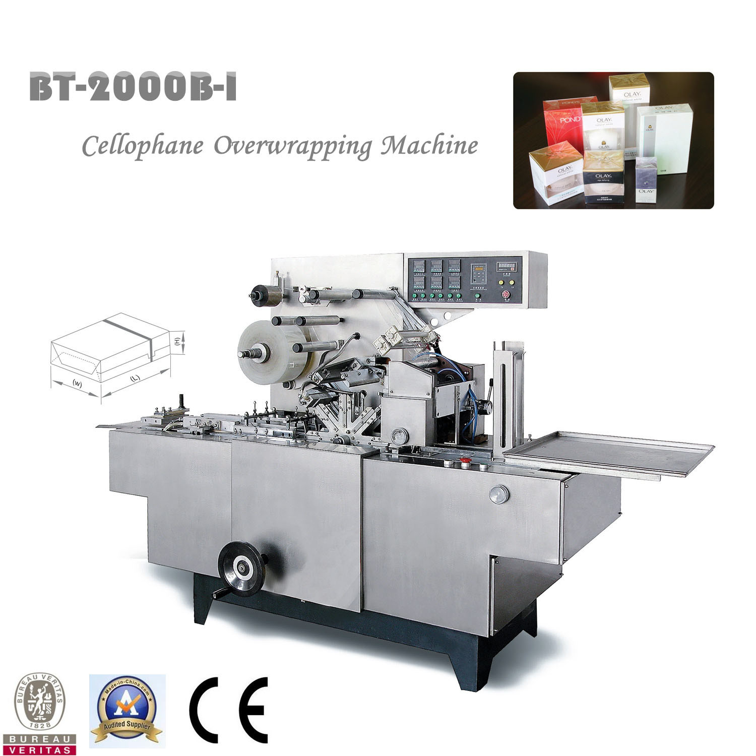 High Speed Automatic Cosmetic Carton Wrapping Machine