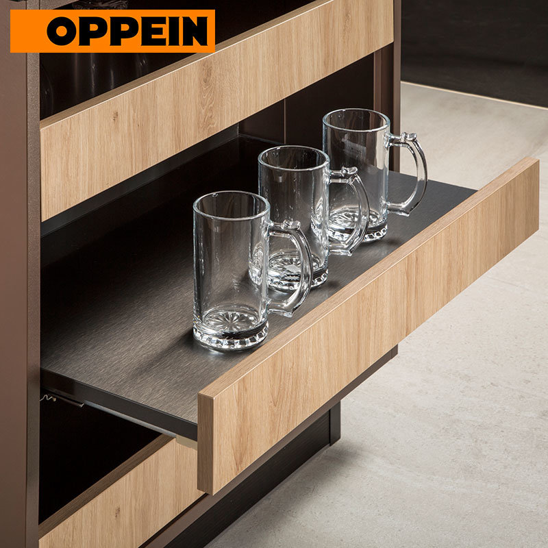 China Oppein Metal Color L Shape Modern Kitchen Designs For Small Kitchens Photos Pictures Made In China Com