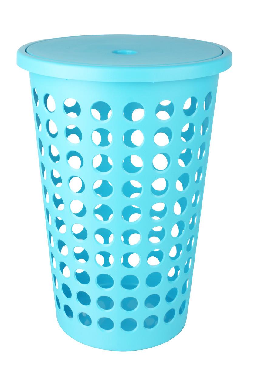China Laundry Basket Round Hole With Lid Le59882 Plastic