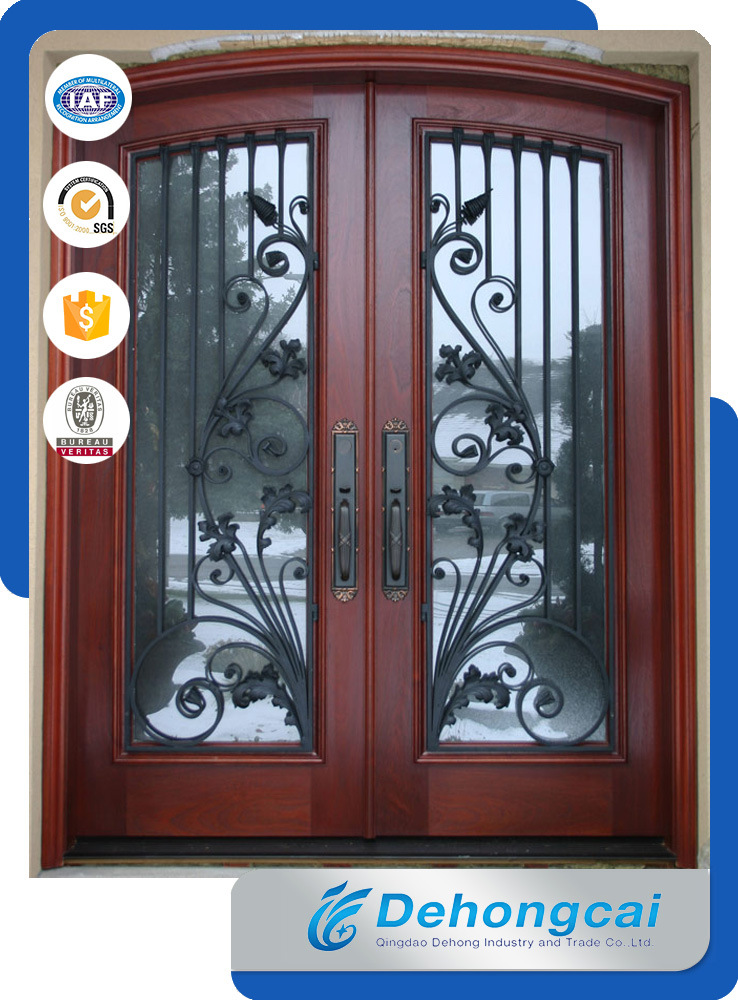 [Hot Item] Decorative, Gap, Black Powder Coated, Arched, Safety, Tall  Garden Side Gate, Metal Gate, Security Wrought Iron Gate