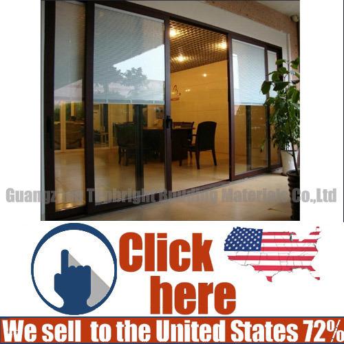 China Aluminum Glass Sliding Doors With Double Glass China Sliding