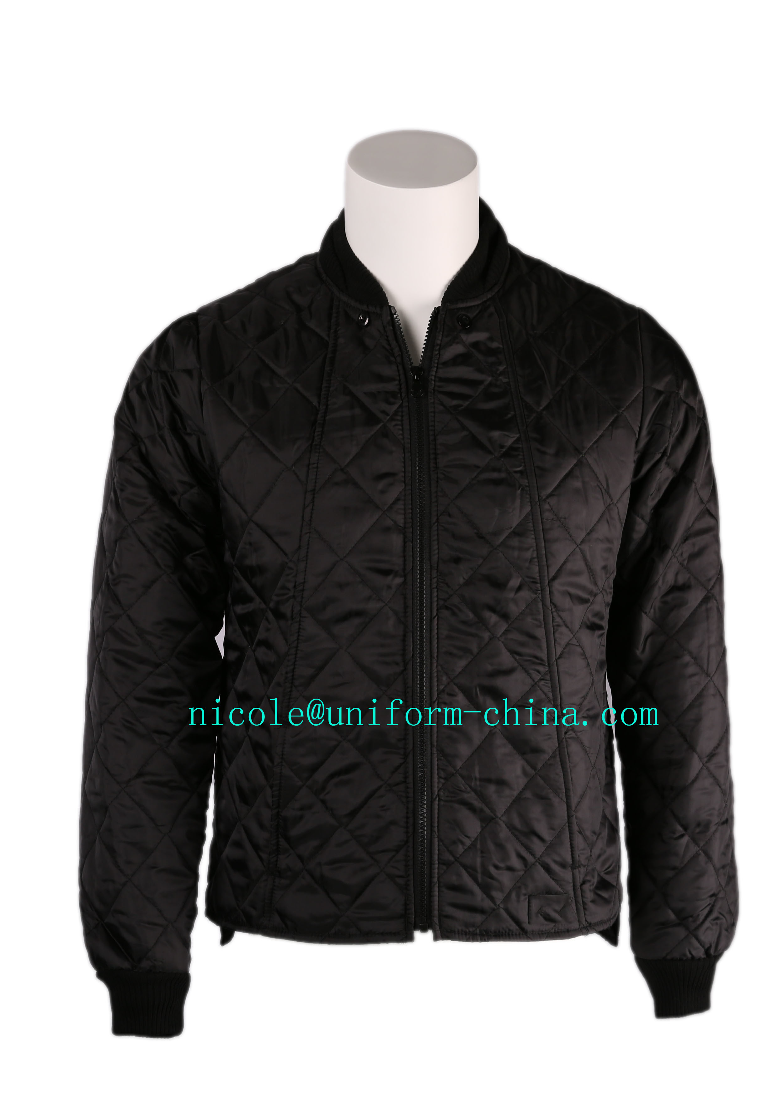 Mens Working Quilted Polyester Winter Warm Freezer Jacket