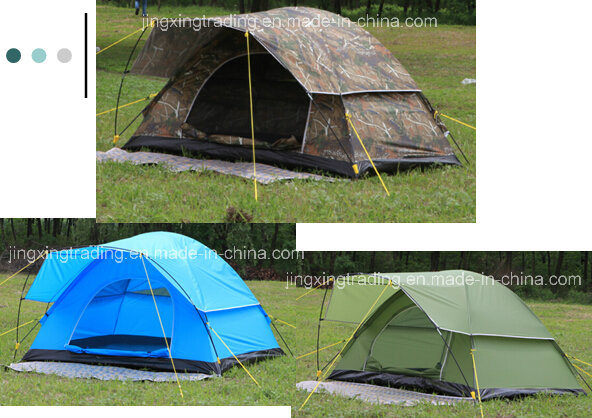 Hot Waterproof Polyester Camping Tent for 2 Persons (JX-CT021)