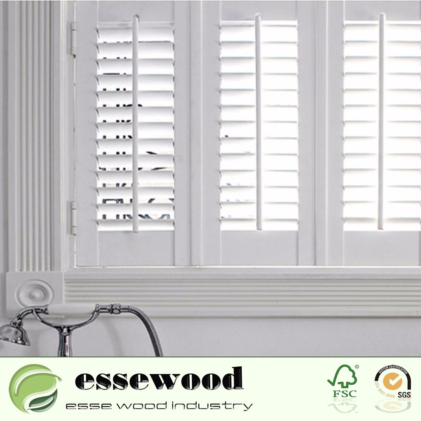 wood nextag compare shopping traditional prices homebasics brown real interior at products shutters decorative walnut