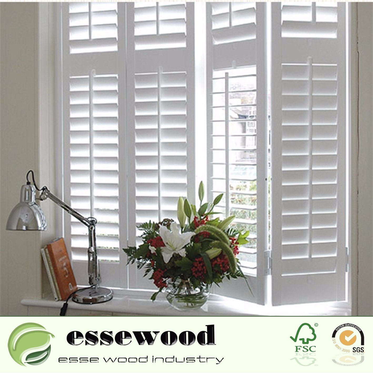 PVC Plastic Louver Shutter Windows Interior Shutter Sliding Shutter Door