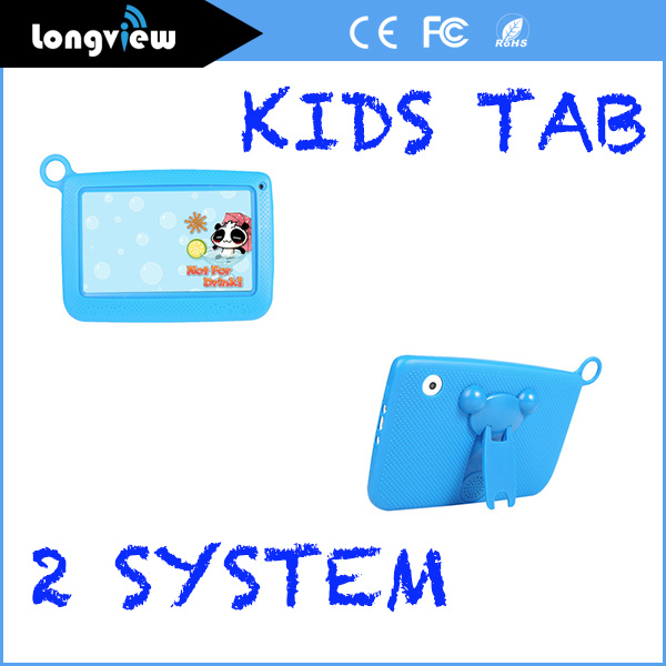 Kiddie Tablets Quad Core 7 Inch 512MB or 1GB and 8GB or 16GB Storage Multi Colourful Case