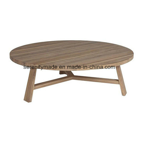 Rustic Style Round Solid Wood Hotel Coffee Table