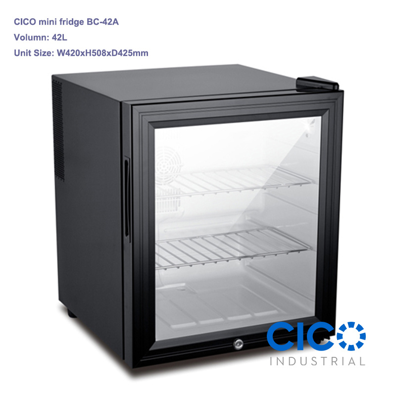 China Cico 42l Glass Door Mini Size Hotel Restaurant Mini Bar Fridge Bc 42a China Mini Bar Fridge Hotel And Table Top Fridge Price