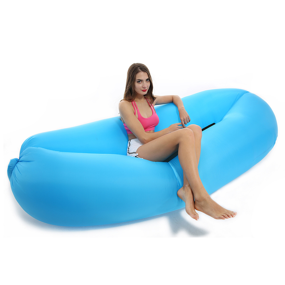 China Fast Inflatable Sleeping Air Bag Bed Chair Laybag Lazy Inflate Lounge Sofa
