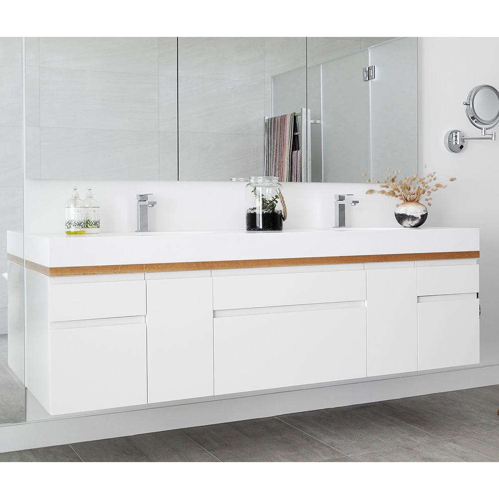 China Sale Luxury Modern Modular High End Waterproof Custom White Bathroom Vanity Cabinet China Bathroom Vanity Bathroom Cabinet