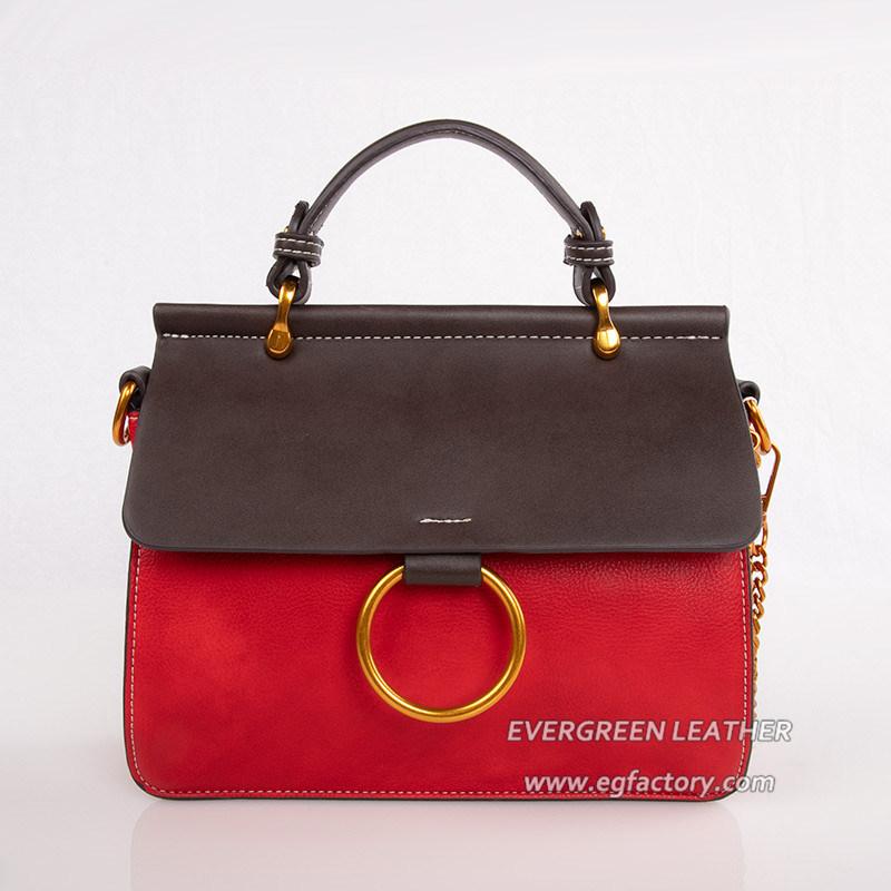 0c15c7a217 China 2018 Korean Female Simple Handbag PU Leather Shoulder Bag ...