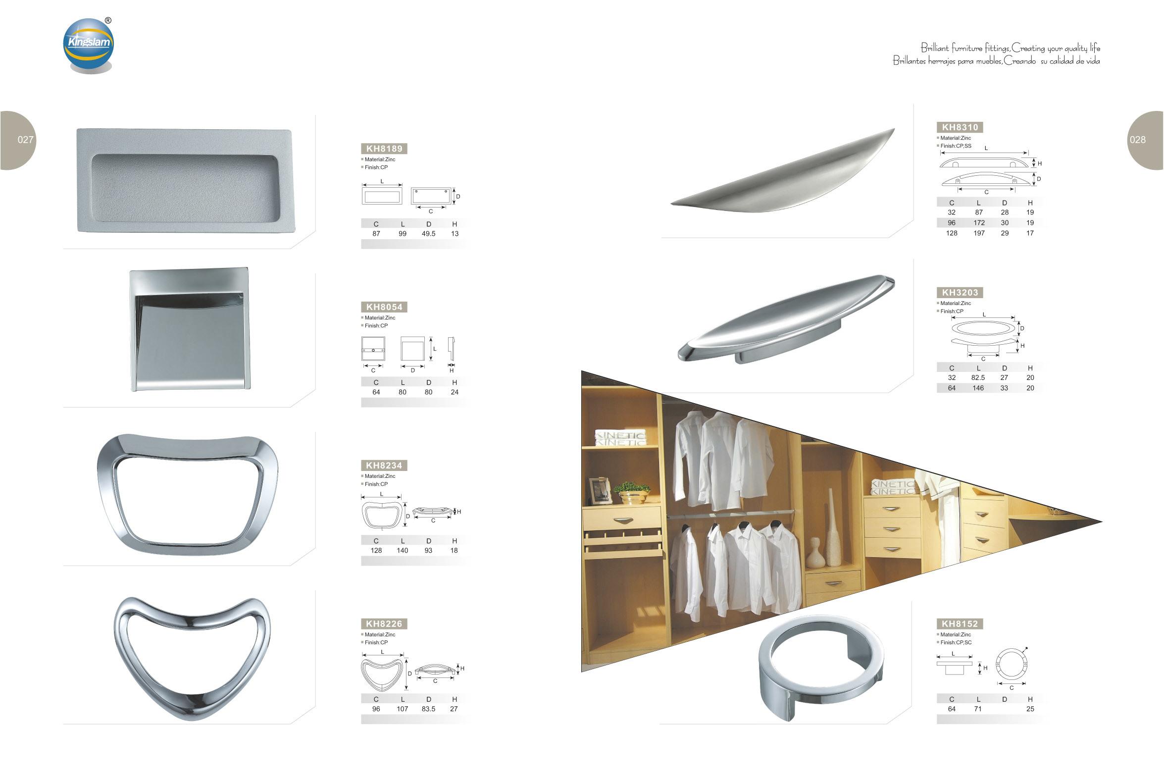 China Kitchen Cabinet Hardware Brush Nickel Zamark Alloy