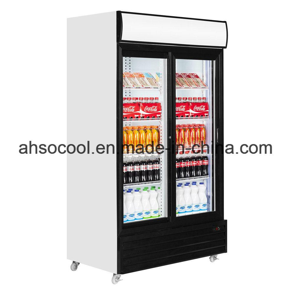 China Commercial Glass Door Merchandiser Refrigerator China