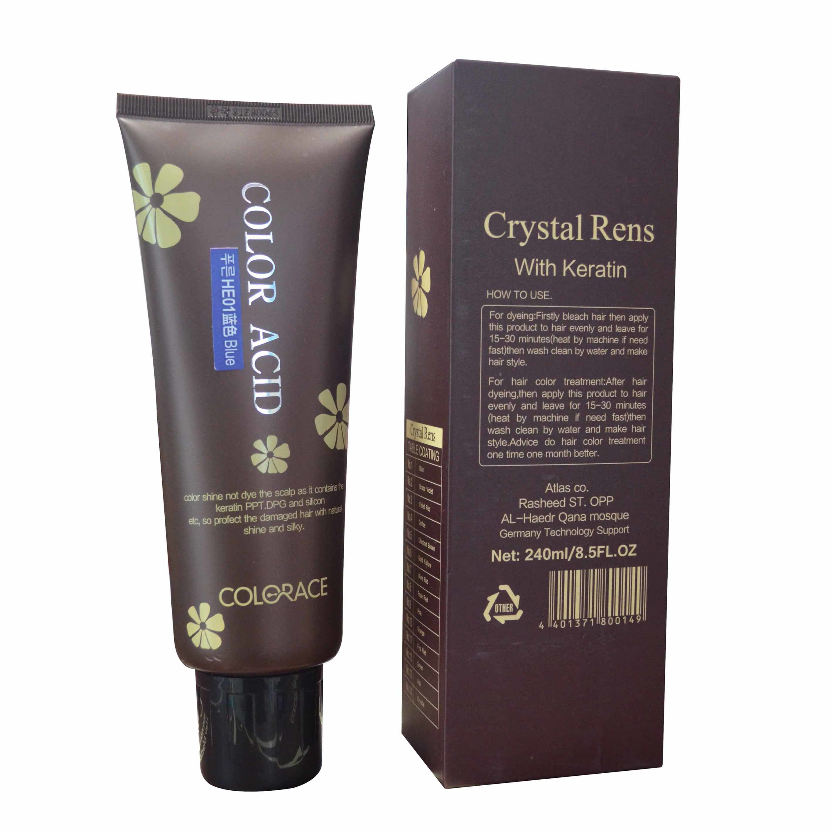 China Crystal Rens With Keratin Hair Color Mask China Color Cream