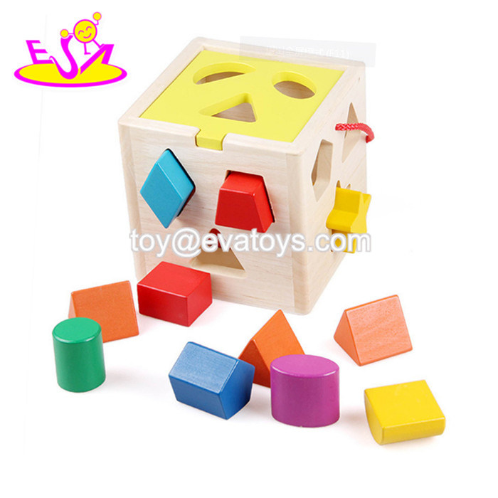 Hot Item Best Montessori Learning Baby Wooden Shape Sorter Toys For 1 Year Old W12d101