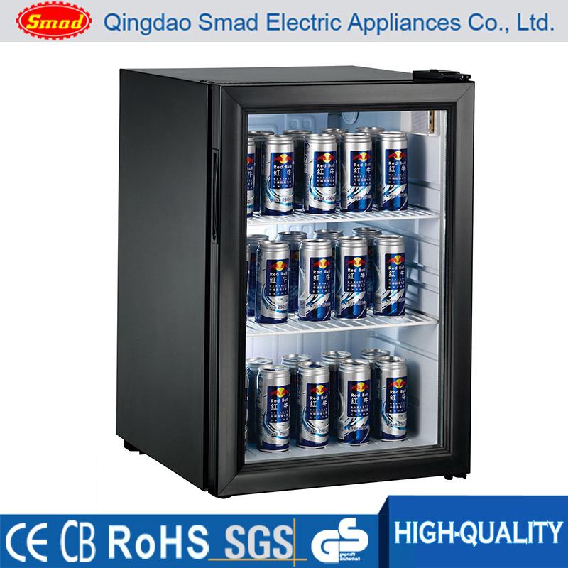 China Commercial Transparent Glass Door Refrigerator Mini Fridge